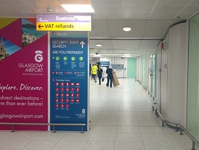 Glasgow Airport Phone Corridor